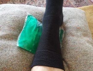 Glace sur le tendon